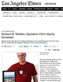 CEO Richard Walden in LA Times — Operation USA's Charity Buccaneer