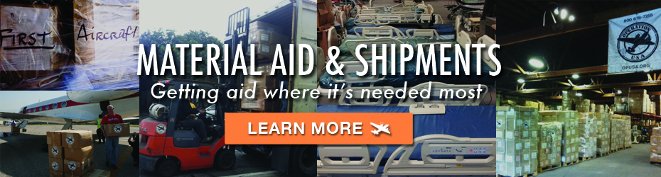 BANNER: Shipping and Material Aid